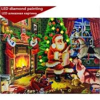 LED Light Full Round Drill 5D DIY Diamond Painting 3D Embroidery Cross Stitch Mosaic Decor Gift 40x50CM