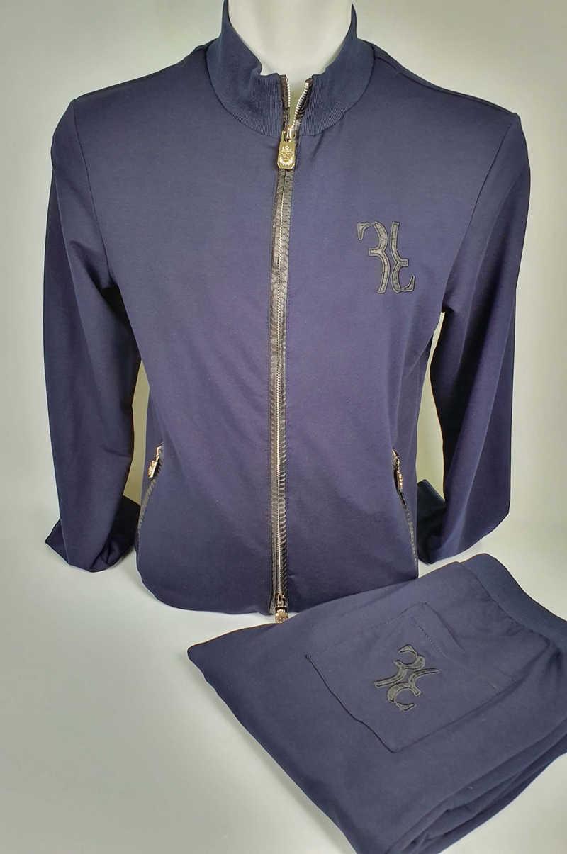 Спортивная одежда миллиардера комплект для мужчин 2019 из змеиной кожи, с застежкой-молнией, новый стиль; Удобная Повседневная Высокое качество Спартанский Бесплатная доставка
