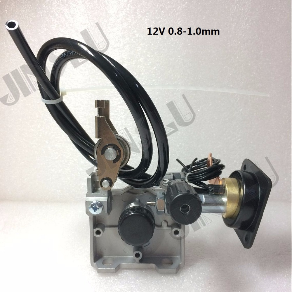 12V 0.8-1.0mm ZY775 Wire Feed Assembly Wire Feeder Motor MIG MAG Welding Machine Welder Euro Connector MIG-160  JINSLU professional 24v wire feed assembly 0 6 0 8mm 023 03 detault wire feeder mig mag welding machine european connector en60974
