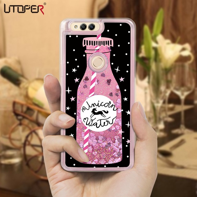 UTOPER Luxury Liquid Phone Cases For Huawei Honor 7x Case Silicone Cover...