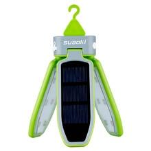 Suaoki נייד מתקפל LED אור USB & שמש נטענת פנס עמיד למים LED אור פנס לנסיעה/קמפינג/טיולים