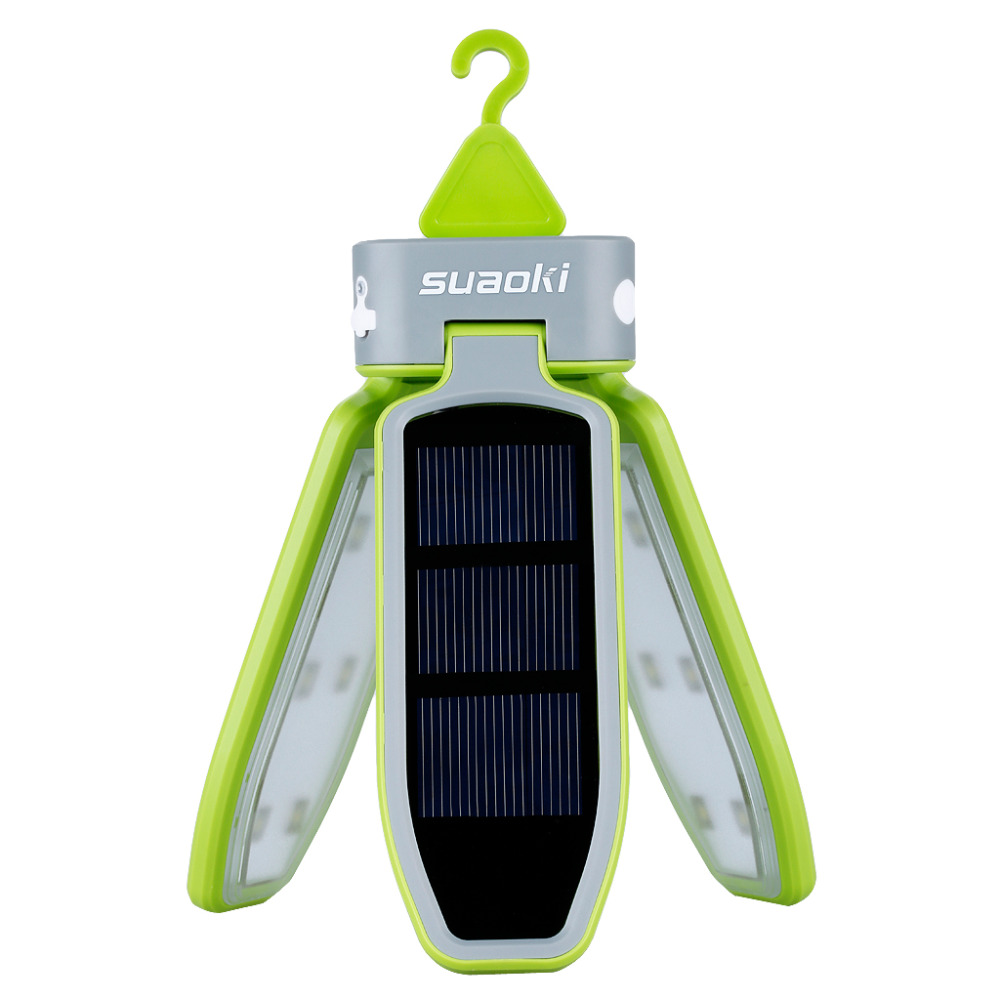 Suaoki Portable Collapsible LED Light USB &Solar Rechargeable Lantern Waterproof LED Light Lantern for Traveling/Camping/Hiking-in Solar Lamps from Lights & Lighting