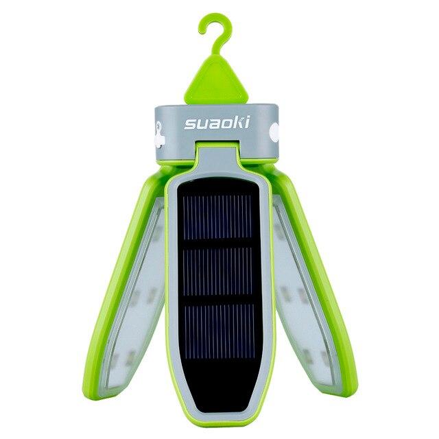 Suaoki Портативный Складной СВЕТОДИОДНЫЙ Свет USB & Солнечный перезаряжаемый фонарь Водонепроницаемый светодиодный фонарь для путешествий/Кемпинг/Пеший Туризм