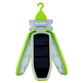 Suaoki Portátil Plegable LED Luz USB Y Linterna Solar Recargable Impermeable Linterna Con Luz LED Para Viajar/Camping/senderismo