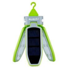 Suaoki taşınabilir katlanabilir led ışık USB güneş şarj edilebilir fener su geçirmez LED ışık fener seyahat/kamp/yürüyüş