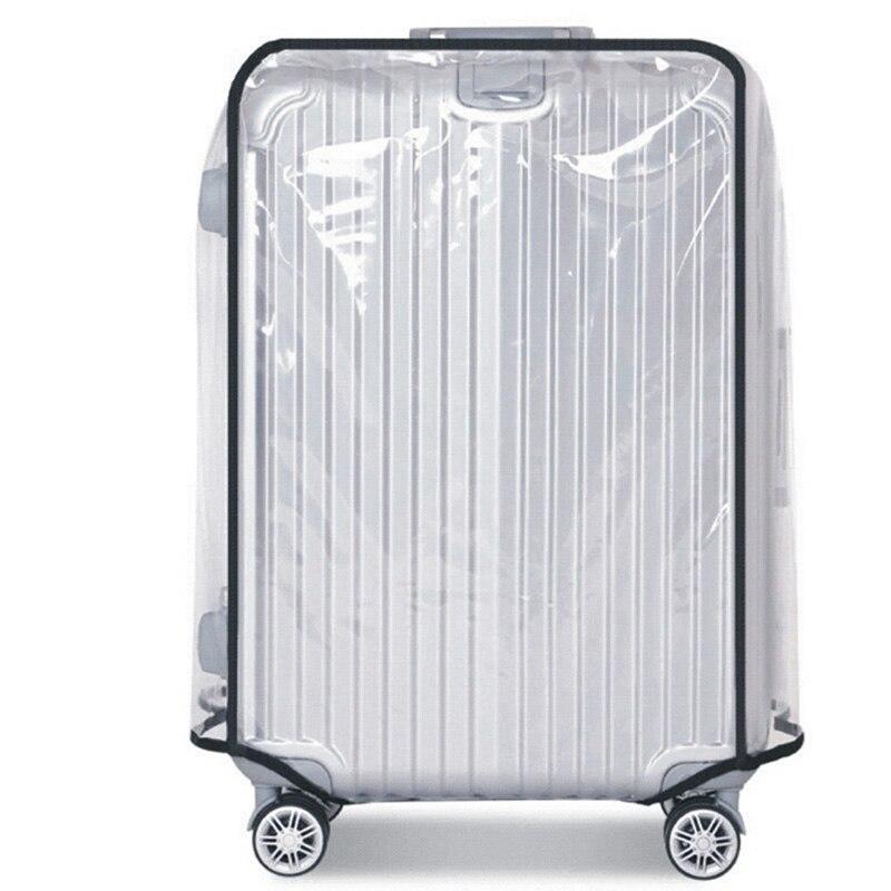 PVC Suitcase Bag Protective Covers Transparent Rain Dust luggage Travel Accessories Wear-Resistant Suitcase Protect Sleeve Case protective plastic rain drop case for iphone 5 transparent blue transparent