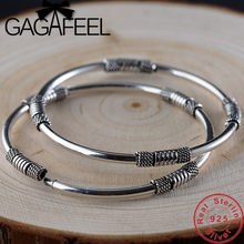 GAGAFEEL S925 Sterling Silver Bracelets Hollow Wristband for Women Female Gift Thai Silver Jewelry Top Quality(China)