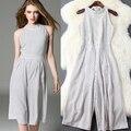 2016 a primavera eo verão ROUPAS FEMININAS Europeus e Americanos moda tarja rendas cintura larga perna calças Siameses do sexo feminino quinto T5263