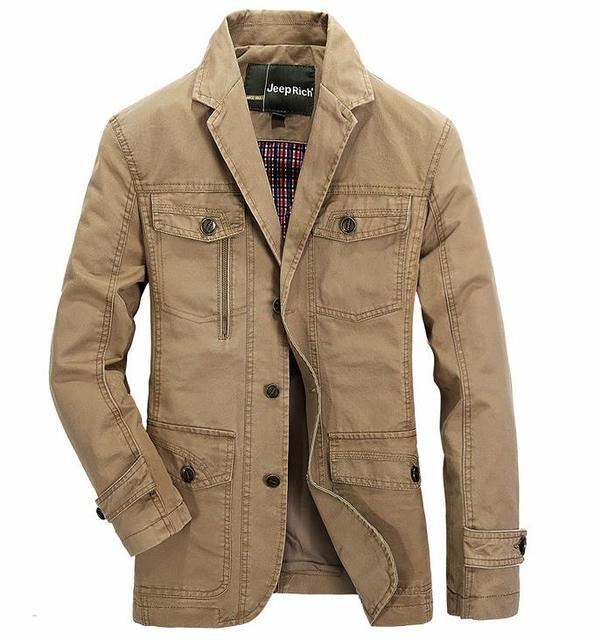 Os novos Homens marca casual algodão homens jaqueta blazer terno primavera casaco masculino jaquetas casacos blazers Khaki exército verde