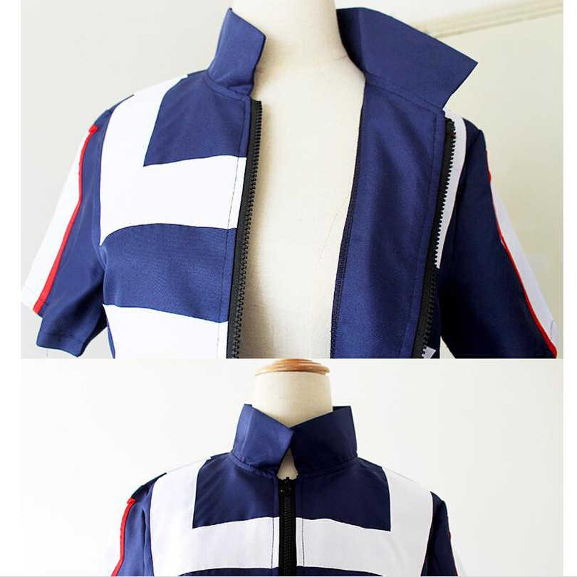 שלי גיבור אקדמיה Boku לא גיבור Cosplay תלבושות גברים נשים בית ספר אחיד חליפת חדר כושר Tshirt מכנסיים Midoriya Izuku Todoroki Shouto