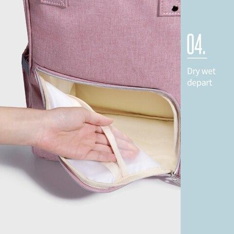 Sunveno Waterproof Diaper Bag Backpack Quilted Large Mum Maternity Nursing Bag Travel Backpack Stroller Baby Bag Nappy Baby Care Multan