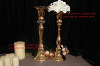 gold wedding table centerpiece candle holder tall flower pillar wedding decoration
