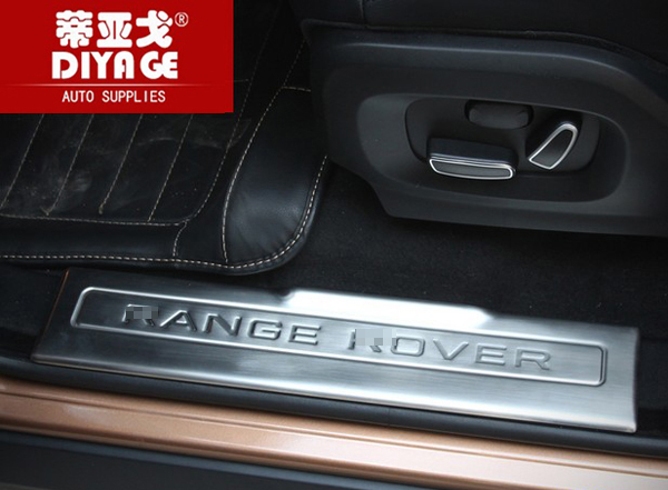 Stainless Steel Car Door Sill Scuff Plate Pad Threshold Car Guards Sill For Range Rover Evoque 2012-2017 Accessories Car Styling