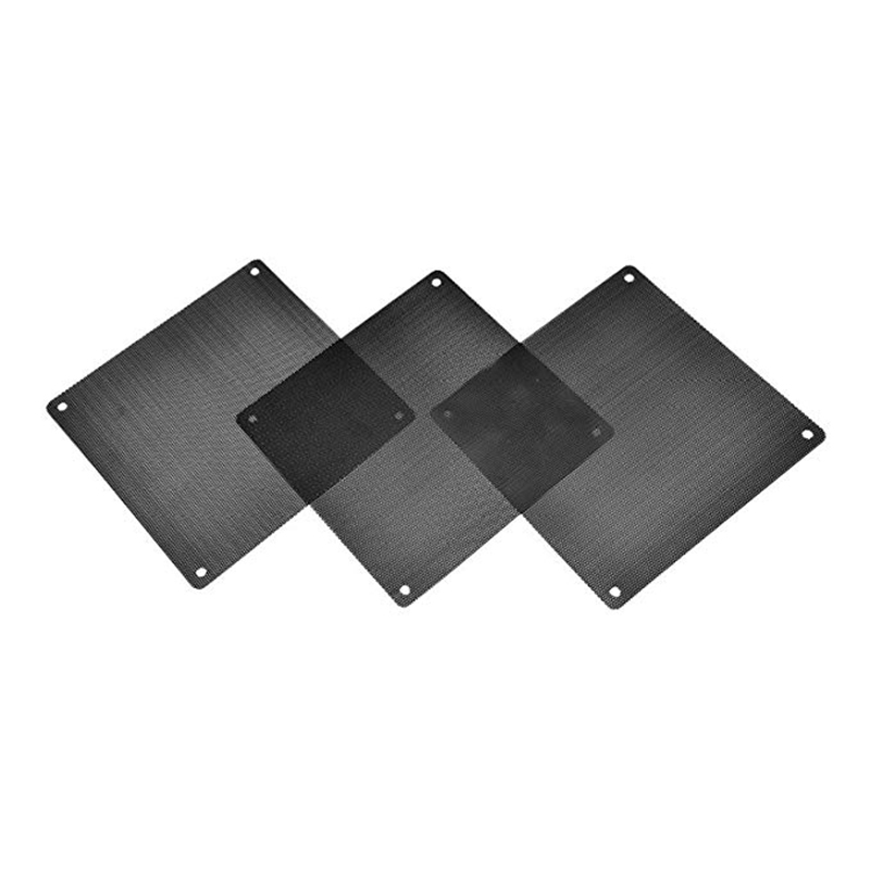 Image 5 - 120 mm Dust Filter Computer Fan Filter Cooler PVC Black Dustproof Case Cover Computer Mesh 10 Packs with 40 Pieces of Screws-in Fans & Cooling from Computer & Office