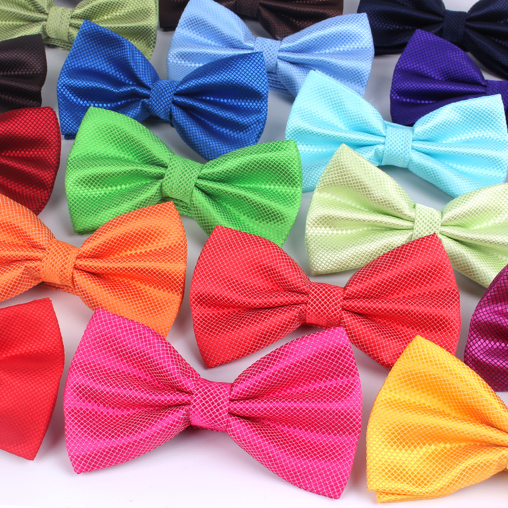 NEW Men Bow Tie Classic Shirts Bowtie For Men Bowknot Adult Solid Color Bow Ties Butterfly Cravats Ties For Wedding Bowties