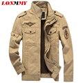 LONMMY Invierno chaquetas hombres abrigos para hombre de algodón Grueso Terciopelo 2016 Bomber jacket hombres abrigo Militar Ejército Marca Chaquetas para hombre M-6XL