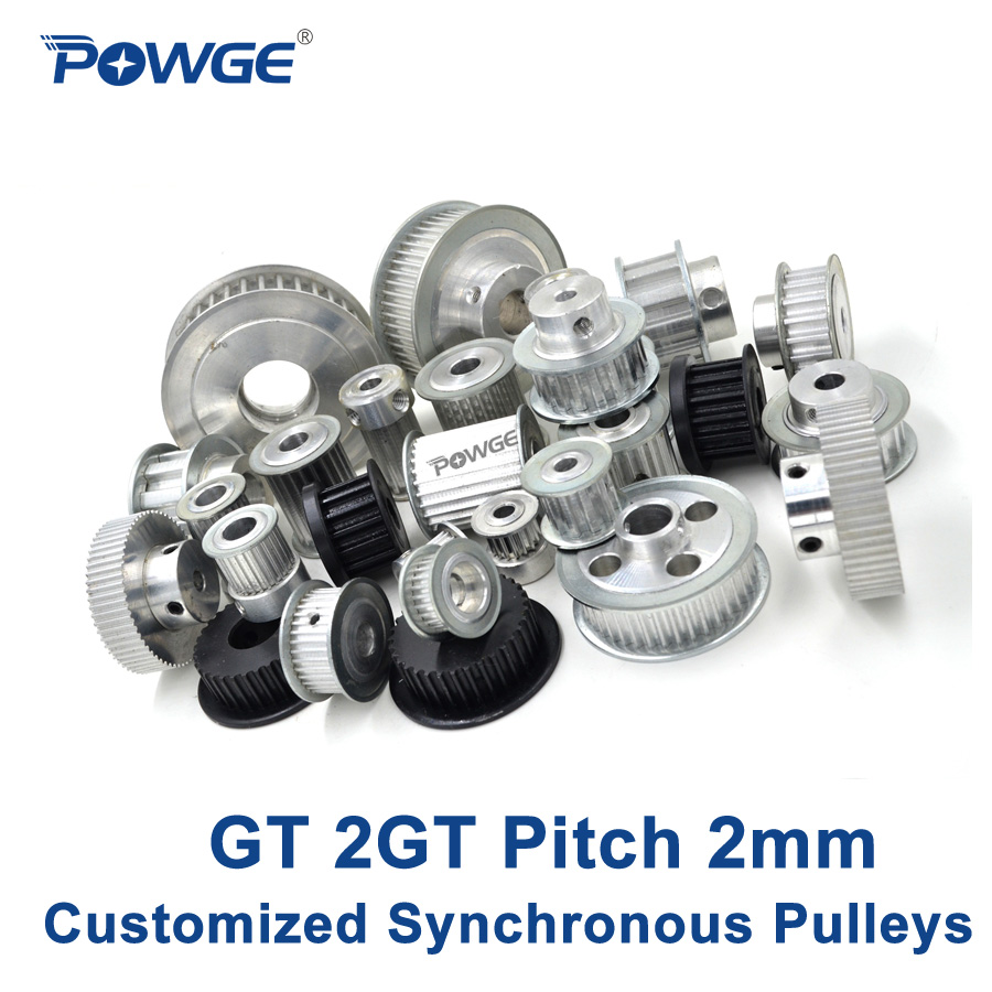 Powge High Torque Gt 2gt Synchronous Pulley Pitch 2mm Wheel Gear Mini Timing Belts Manufacture Customizing All Kinds Of Gt2 Belt In Pulleys From Home