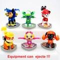 1 pcs Cão de Patrulha Canina Equipamento Pode Ejecte Boneca Figuras de Ação Do Carro Patrulha Canina Filhote de Cachorro Toy Patrulla Juguetes Brinquedos para crianças