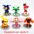 1pcs Canine Patrol Dog Equipment Can Ejecte Doll Action Figures Car Patrol Puppy Toy Patrulla Canina Juguetes Toys for Children