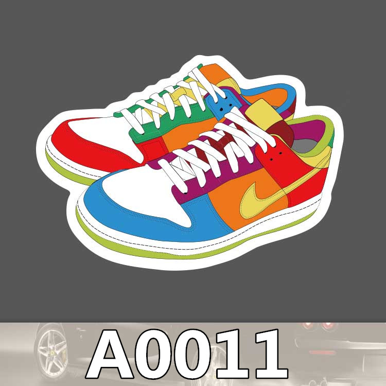 BevleFans Store Bevle A0011 Tide Sports Shoes Waterproof Cool Sticker for Cars Laptop Luggage Skateboard Graffiti Notebook Stickers