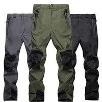 Двухслойные флисовые Мужские штаны для сноуборда Autumu и зимняя уличная спортивная одежда походные брюки ветрозащитные непромокаемые сноуб...