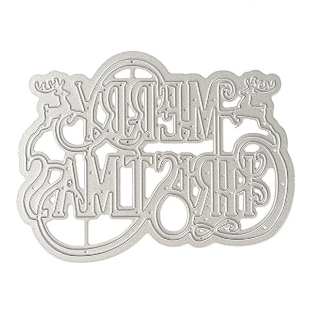ff13716a2d7c US $2.11 24% OFF Merry Christmas Words Metal Cutting Dies Stencil New 2018  for DIY Scrapbooking Photo Album Embossing Paper Cards Crafts Cut Dies-in  ...