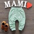 2016 Nueva Primavera y Otoño Bebé Pantalones 1 unidades Modelo de Estrella de Algodón Pantalones de Los Cabritos de los Bebés Y Bebé Pantalones