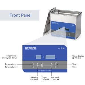 Image 3 - GTSONIC R3 ultradźwiękowa 3L 100W z cyfrowym wyświetlaczem ogrzewanie Degas Basket ultradźwiękowa kąpiel