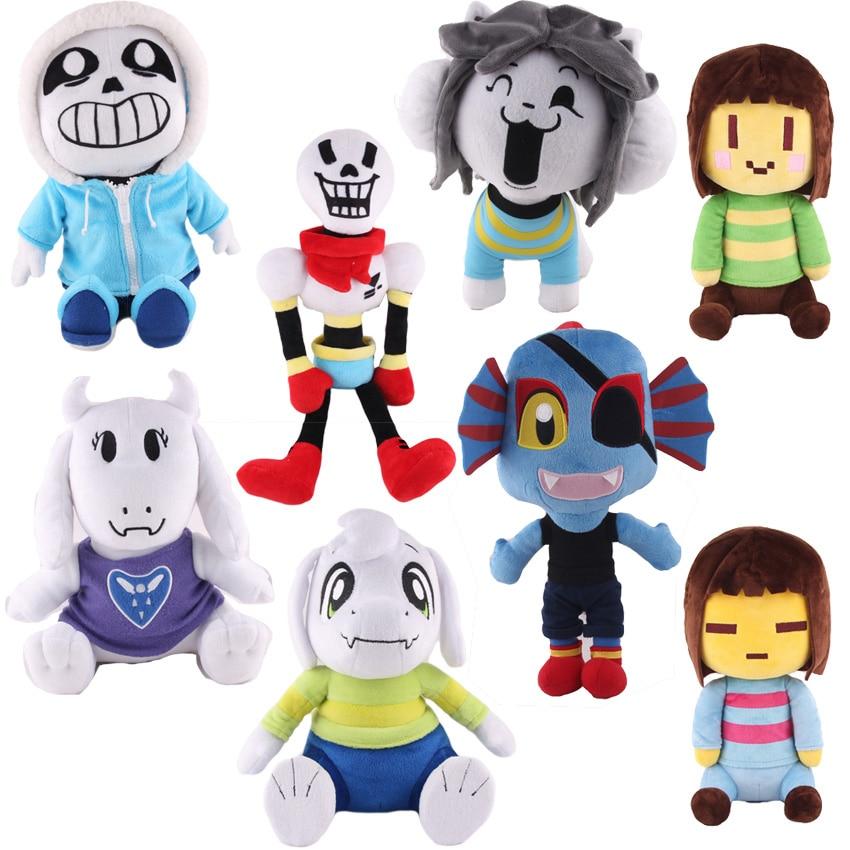 Undertale Frisk Chara Sans Papyrus Asriel Napstablook Happstablook Toriel Temmie Undyne Stuffed Doll Plush Toy Kids Gifts