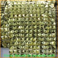 Free Shipping 5yard Lot Smooth The Pyramids 12rows Plastic Rhinestones Mesh Trimming Sewing Trim Wedding Dress