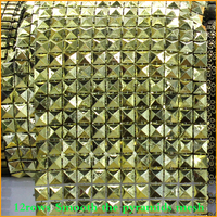 Free Shipping 5yard Lot Smooth The Pyramids 12rows Plastic Rhinestones Mesh Trimming Sewing Trim Wedding Dress