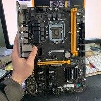 BIOSTAR TB250 BTC PRO Mining motherboard DDR4 LGA 1151 32GB 6 PCI E 6A + 6N card Desktop Motherboard