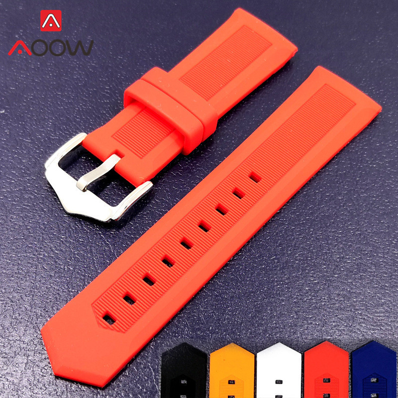 Soft Silicone Watchband 12mm 14mm 16mm 18mm 20mm 22mm 24mm 26mm 28mm Universal Rubber Wristband Bracelet Band Strap Accessories