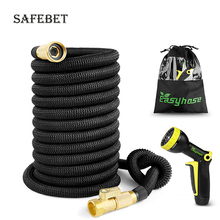 Garden hose 25-75FT expandable magic flexible irrigation for car plastic watering with spray gun