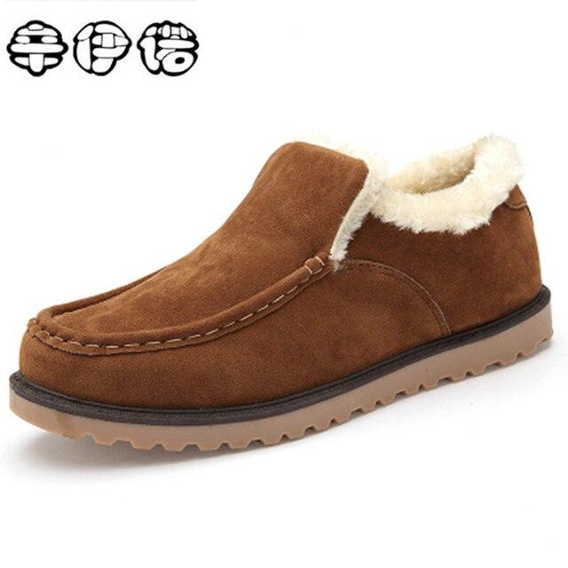 Mùa Đông siêu Ấm Boots Men Tuyết Khởi Động Với Lông Giữ Ấm Nền Tảng Mùa Đông Tuyết Men Giày Ngoài Trời Ankle boots