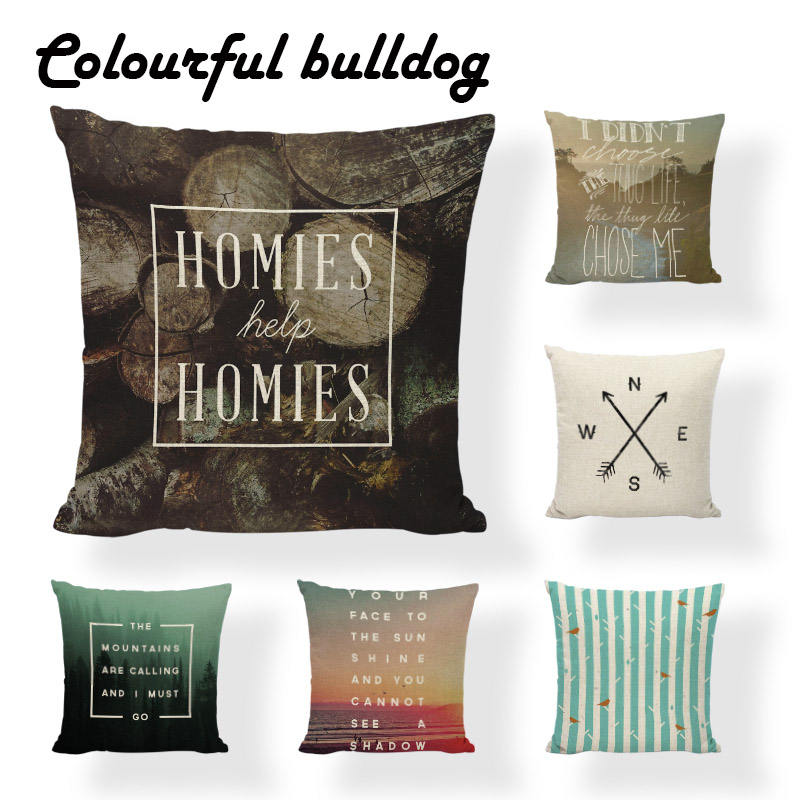 Sublimation Material Arrow Pillow Into The Wild Cushion Case Boho Cute Office Square Direction Linen Home Improvement Decorating