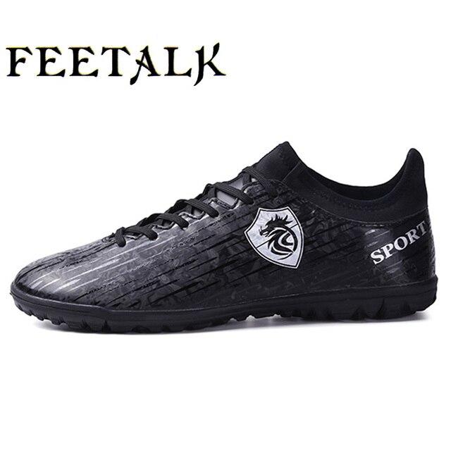 Indoor Soccer Shoes Homens mulheres crianças Sapatos FG Futebol Botas  Longas Spikers Bota De Futebol Chuteiras 60ff2f57fe87e
