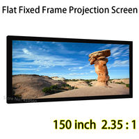 Brightness Image 3D Projector Screen 150inch Cinemascope Format Fixed Frame Screens Front Projection
