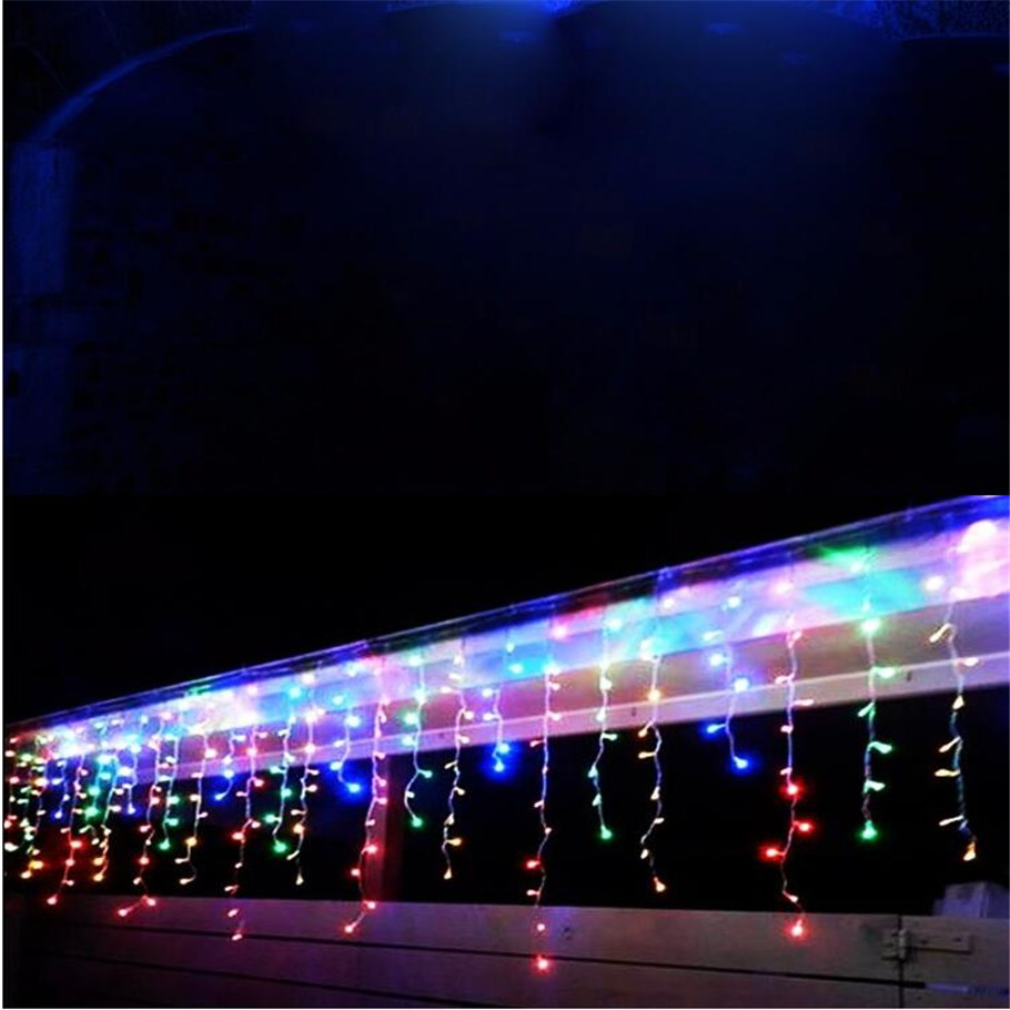 220V christmas lights outdoor decoration 5m droop 0.6-0.7-0.8m led curtain icicle string lights new year wedding party garland цены