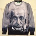 Hot 2014 Women/Men Einstein 3D print Hoodies funny Pullovers blouse retro/vintage sweatshirts streetwear puls size in stock