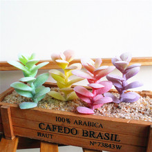 2018 New Simulation Succulent Flocking White Orchid Leaves Creative DIY Supplies Plant Wall Accessories Home Decor