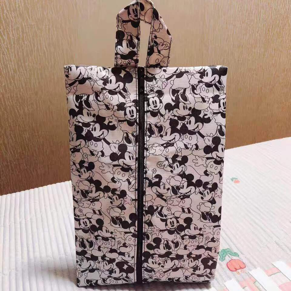 Disney Mickey Mouse Cartoon Female Male Handbag Waterproof Shoes Towel Clothing Bag For Storage Minnie Shoe Bag