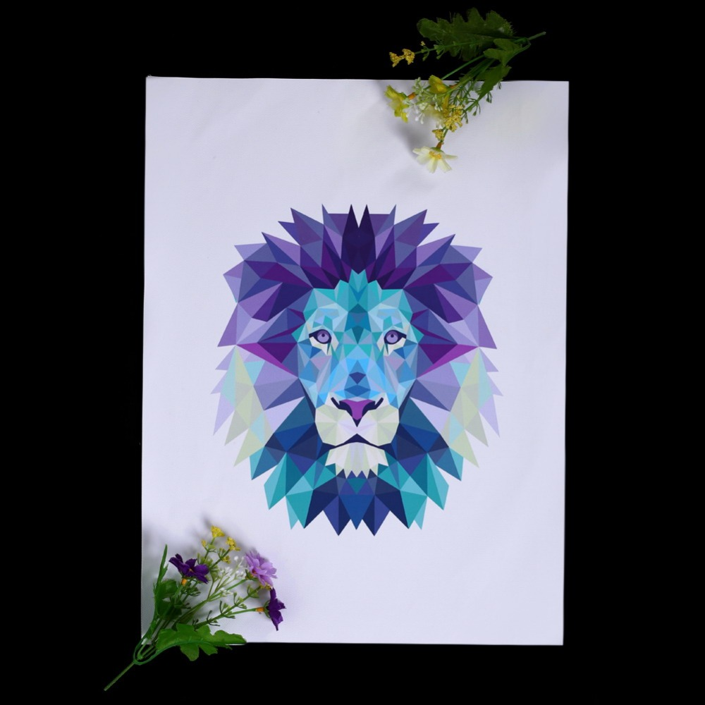 ASLT Lion Waterproof Canvas Art Print Poster Art Prints Poster Hipster Wall Picture Canvas Painting Kids Room Home Decor 2 Size