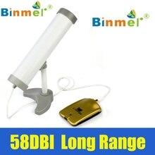 Оригинал Binmer Новый Long Range High Power (5800 МВТ) 58DBI Clipper Беспроводной Wi-Fi Адаптер Антенна Высокой Чувствительности Июля 19
