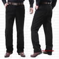 Free shipping extra large men's clothing large plus size black pants 100% cotton straight pants casual trousers 6xl 5xl