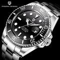 PAGANI Дизайн 1639 брендовые Роскошные мужские часы Автоматические черные часы мужские из нержавеющей стали водонепроницаемые деловые механич...