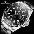 PAGANI Ontwerp 1639 Merk Luxe Mannen Horloges Automatische Zwarte Horloge Mannen Roestvrij Staal Waterdichte Business Mechanische Horloge