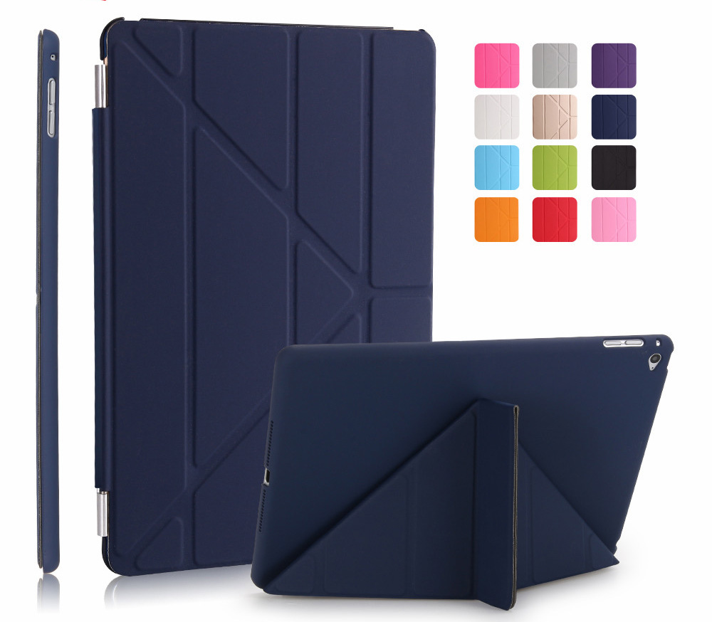 For Apple ipad air 2 smart case funda cover for ipad 6 9.7 inch pu leather with pc back shell magnetic stand wake up sleep for ipad air 1 2 case pu leather smart wake up sleep magnetic flip stand with solid plastic back cover for ipad 5 6 stylus