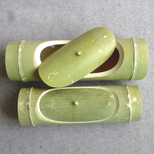 Handmade Natural Bamboo Steamed Rice Barrels Green Steaming Cup Soup Bowl Healthy Life Steaming with Lid