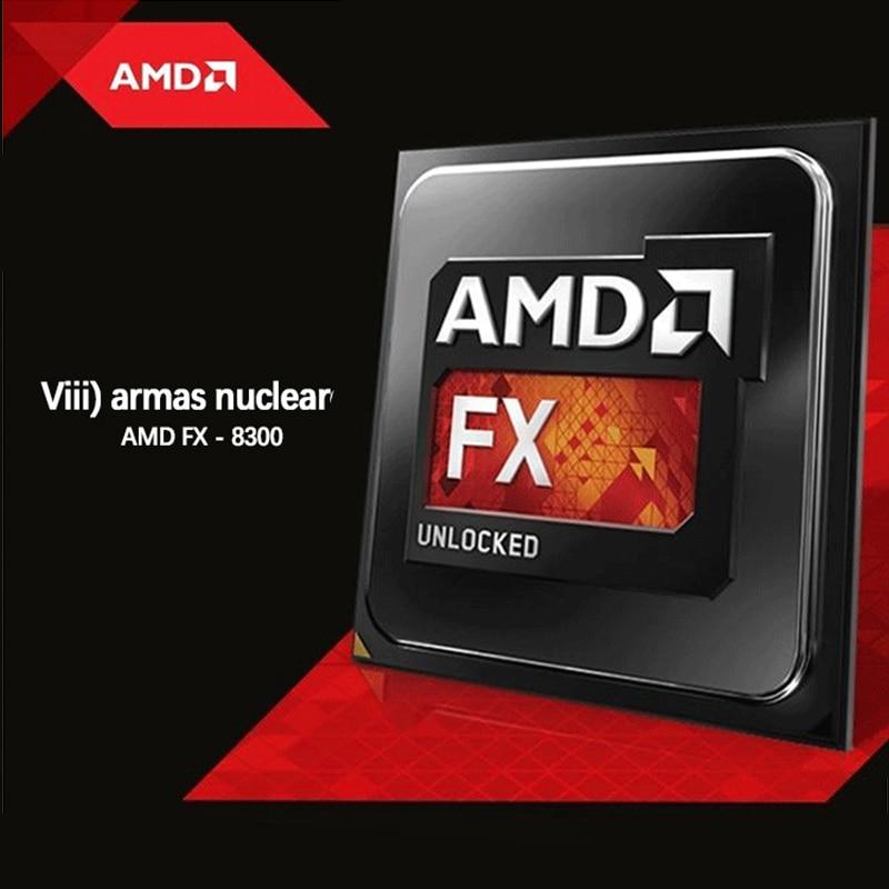 Área de trabalho do processador CPU AMD FX 8350 GHz Soquete AMD FX série 4 AM3 + CPU PC 32 nm FX-8350 Piledriver l3 8 MB FX8350 CPU